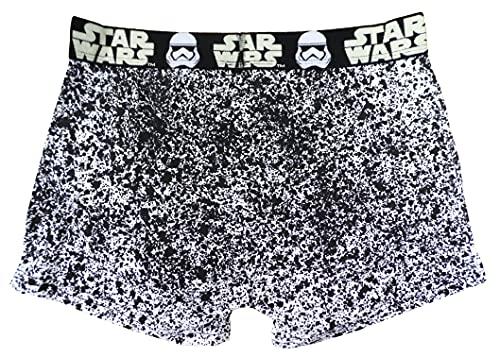 Star Wars Herren Unterwäsche Boxershorts Baumwolle Gr. L, weiß/schwarz