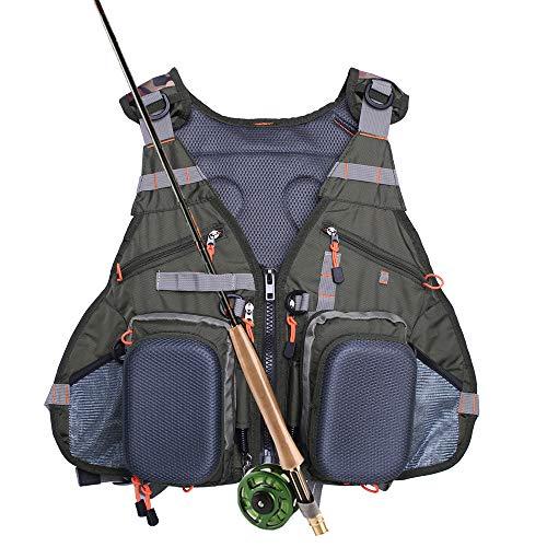 Waxaya Fly Fishing Vest Adjustable for Men and Women