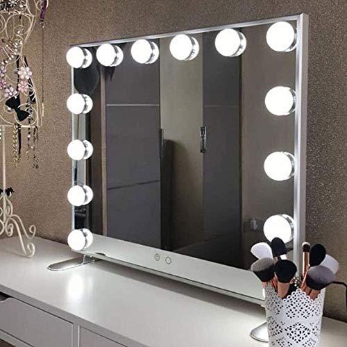 Luces de espejo 10 piezas 5 Temperatura de color Bombillas de luz Luces de pared Espejo de maquillaje Bombillas de tocador Luces de vanidad para maquillaje Mesa de belleza