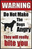 レトロおかしい金属錫サイン12x 16インチ(30 * 40 cm)犬ブリキ看板警告通知パブクラブカフェホームレストラン壁の装飾アートサインポスター(hd-2-8)