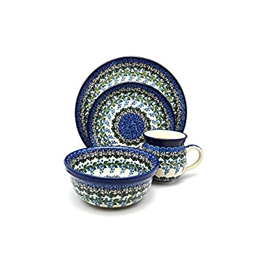 Polish Pottery 4-pc. Place Setting with Standard Bowl - Wisteria