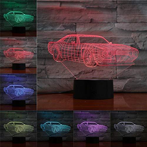 Lampada da tavolo per berlina con luce notturna 3D Regali creativi per Kidslight Decorazioni per la camera da letto Decorazioni per auto Luci presenti LED