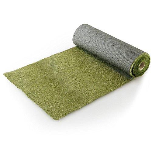 LOWYA ロウヤ 芝生 人工芝 ロール マット 短め毛足 幅2m×10m ナチュラル/グリーン