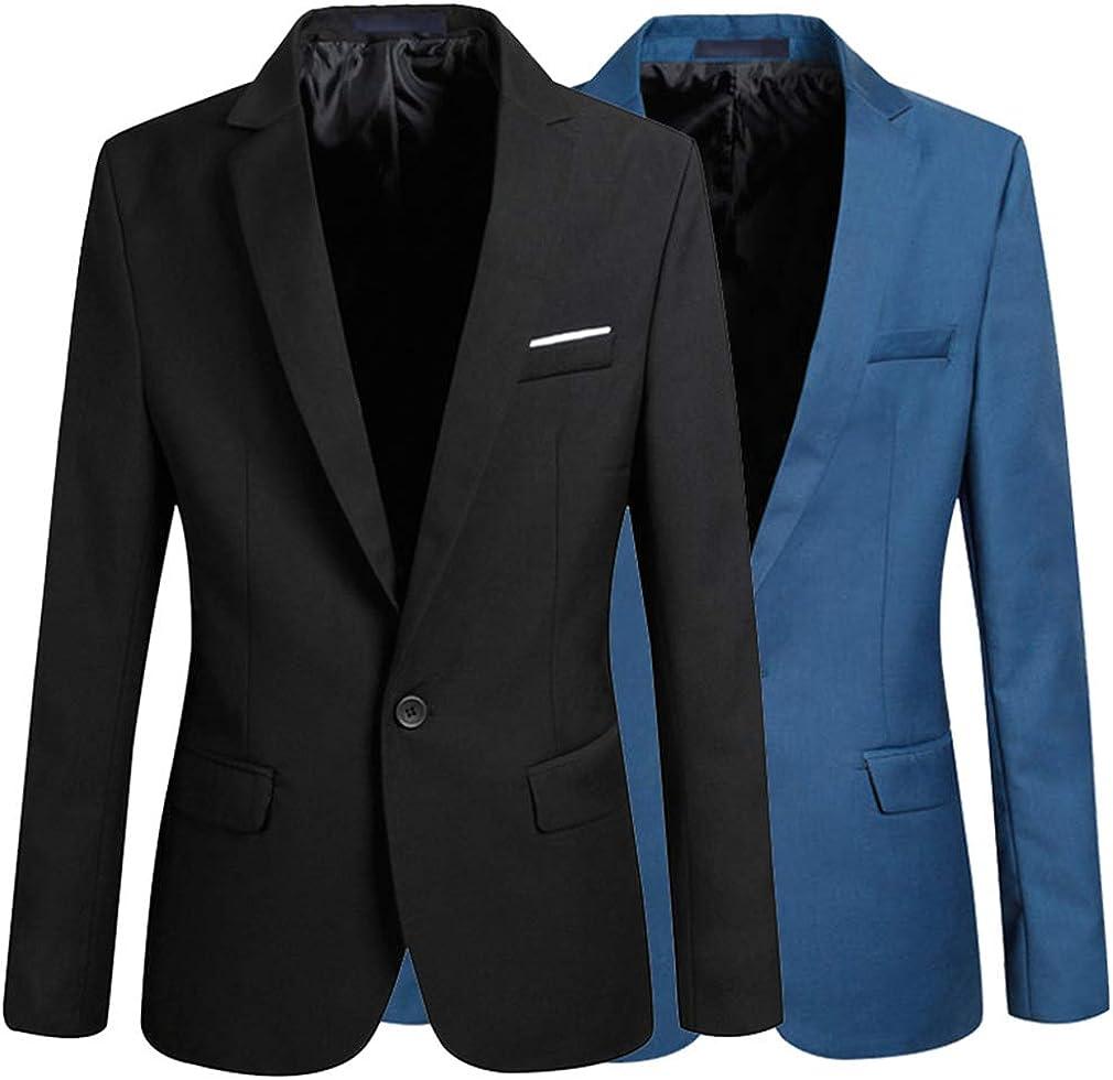 Herren Sakko Slim Fit Blazer Business Anzug Outwear EIN Knopf Klassische Jacken Revers B/üro Blazer Lange /Ärmel Freizeit Modern Sakko /Über Gr/ö/ßen M-6Xl