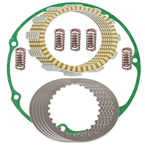 Caltric compatible with Clutch Friction Plates and Gasket Kit Honda VT700C Shadow 700 1984 1985 1986 1987