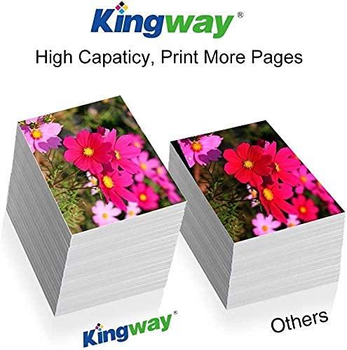 Kingway Cartuchos de Tinta de Repuesto para Epson T1285 (T1281 T1282 T1283 T1284), Alta Capacidad para Epson S22 SX125 SX130 SX230 SX235W SX420W SX425W SX430W SX440W SX445W BX305F