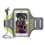 Zeonetak Brazalete deportivo impermeable, transpirable y ajustable con velcro para iPhone 8 Plus, iPhone X, iPhone 7S Plus, iPhone 6 Plus, Galaxy S8 Plus, Samsung S5, S6, S7 y la mayoría de teléfonos