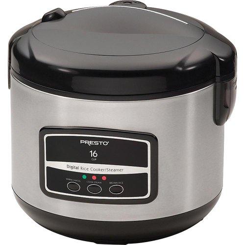 Presto 05813 16-Cup Digital Stainless Steel Rice Cooker/Steamer