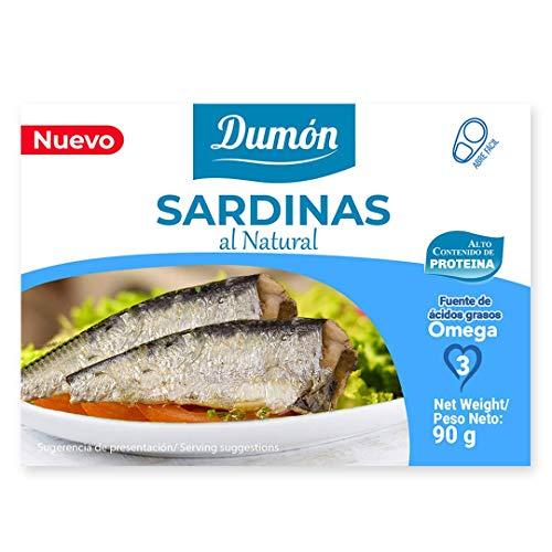 Eingemachte Sardinen mit natürlichem eingemachtem. High in Proteins 25 g pro 100 g, Exclusive Cover Öffnet einfach, Fischkonserven in seinem eigenen Saft, 32 Einheiten von 90 g
