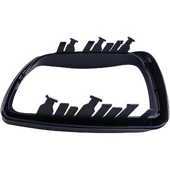 4.4I 2000-2006 3.0I Globalflashdeal ABS Vue Arri/ère R/étroviseur Ext/érieur D/écoration de Cadre de Garniture de Couverture Porte Couverture de R/étroviseur pour BMW X5 E53 3.0D