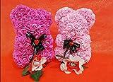 Orso di Rose Orsetto di Rose Orsacchiotto Altezza 25 cm Teddy Bear Rosse Idea Regalo Regali per Lei...