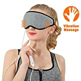 Manfiter Eye Massager with Heat, Eye Massage Heated Eye Mask 2 in 1 3D Structure Eye Relief Waterproof Fabric 1 Minute Speed Hot, Light Soft Portable for Sleeping, Dry Eye, Blepharitis, Stye and MGD