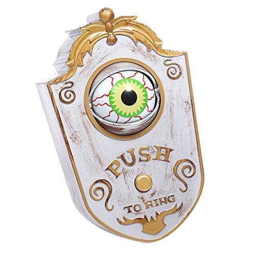 Majome Halloween deurbel ogen openen N' licht omhoog geduwd griezelige oogbal beweegbare deur bel leuk eenogige geest behandelen of Trick idee decoratie