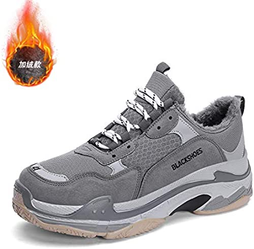 Na-Zh Hommes paniers Fitness Chaussures Hommes Hiver Chaud Tide 959M Noir gris 39