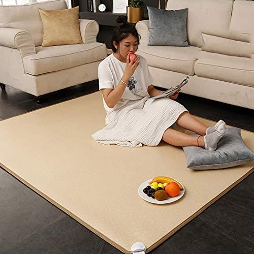 LCJ Mobile Fußbodenheizmatte, fernes Infrarot beheizter Teppich, fernes Infrarot beheizter Teppich Intelligente Temperaturregelung kann auch als Yogamatte, sicher und wirtschaftlich verwendet Werden
