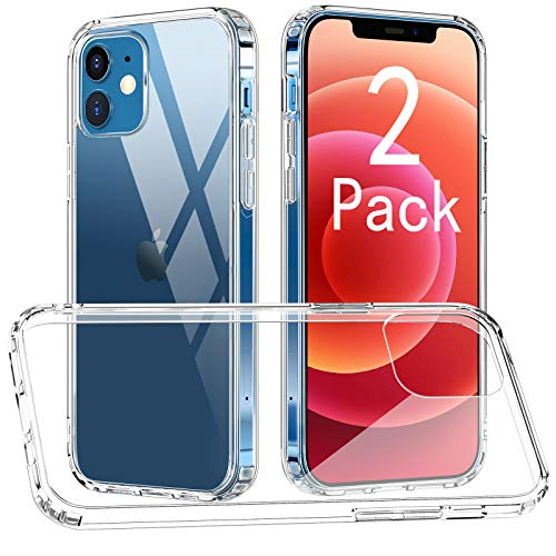 [2 Pack] CTYBB Compatible with iPhone 12 Mini Case, Anti-Drop Protective Cases, 5.4 inch, Clear