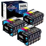 15 Uniwork 16XL Cartuchos de tinta Reemplazo para Epson 16 16XL Compatible con Epson Workforce WF-2750 WF-2760 WF-2660 WF-2650 WF-2630 WF-2540 WF-2530 WF-2520 WF-2510 WF-2010