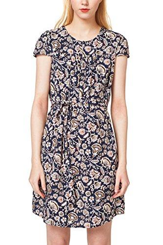 ESPRIT Damen 048EE1E013 Kleid, Mehrfarbig (Navy 400), 36