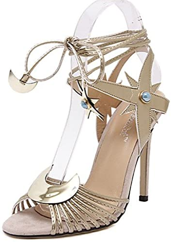 GGX  Chaussures Femme-Décontracté-Argent     Or-Talon Aiguille-Talons-Chaussures à Talons-Polyuréthane c49