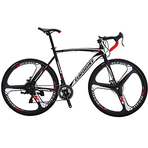 Eurobike Road Bike TSM550 Bike 21 Speed Dual Disc Brake 54CM 700C 3-Spoke Wheels Road Bicycle