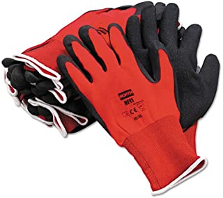 North Safety NorthFlex Red Foamed PVC Gloves, Red/Black, Size 10XL - Includes 12 pairs of gloves.