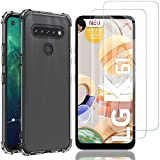 AOYIY For LG K51S Case with Screen Protector,[3 in 1]