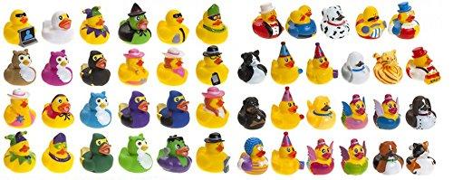 Homestreet Juego de patos de goma mezclados, mini patos de goma para recuerdos de fiesta, bolsas de PArty, juegos, carreras de patos y ms (6)
