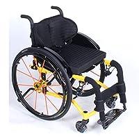余暇のスポーツの椅子の折り畳み式、アルミニウム輸送の椅子の後部車輪の取り外し可能、スポーツの使用のような若い人々のために適したスポーツの車椅子,B