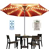 HeKation Patio Umbrella String Lights Battery Operated,...