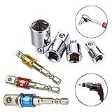 FEIGO 3 pcs Hexagon Socket Adapter Socket Adaptador Socket Wrench 1/4', 1/2', 3/8'+ Socket Adaptador 4 piezas 1/4 a 3/8-3/8 a 1/4 in. - 3/8 a 1/2-1/2 a 3/8 Color