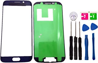 Original Replacement Repair Front Outer Top Glass Lens Cover Screen for Galaxy S6 Edge G925 Mobile Phone Curved Surface Parts (No LCD and Touch Digitizer) (Blue)
