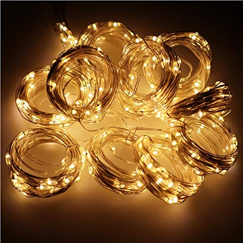 3x3M LED Garland Curtain Lights USB Power Fairy Lights Curtains For Living Control 8 Modes Remote Home Room Christmas Decoration - Warm,3x3M
