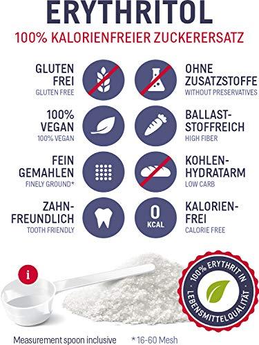 Erythritol polvere 4.5kg dolcificante senza calorie - zucchero alternativo