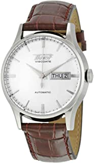 Tissot Men's TIST0194301603101 Heritage Visodate Stainless Steel Automatic Watch with Brown Leather Band