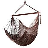 Caribbean Hammock Chair with Footrest - 40 inch - Soft-Spun Polyester - (Mocha)