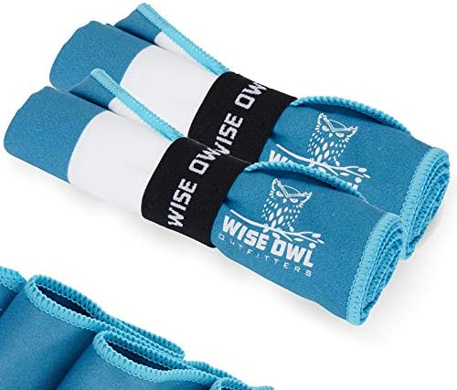 Wise Owl Outfitters Gym Towels Microfiber Quick Dry Workout Towel Sports Travel Sweat Sport product image
