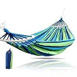 Best Swing Bed - Jukkre Canvas Fabric Hammocks Striped Ultralight Outdoor Beach Review