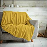 Hachete Waffle Honeycomb - Manta suave y cálida para sofá cama, cama (200 x 240 cm)