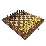 HJUIK Juego de ajedrez de madera, juego de ajedrez, juego de ajedrez, juego de ajedrez, juego de ajedrez, juego de ajedrez, tablero de ajedrez de madera, juego de ajedrez Dropship (color: 39 x 39 cm)