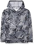 adidas Boys' Active Sport Athletic Pullover Hooded Sweatshirt, Core Camo Heather Gray, Large