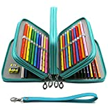 YOUSHARES 72 Slots Pencil Case - PU Leather Handy Multi-layer...
