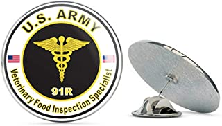 U.S. Army MOS 91R Veterinary Food Inspection Specialist Metal 0.75