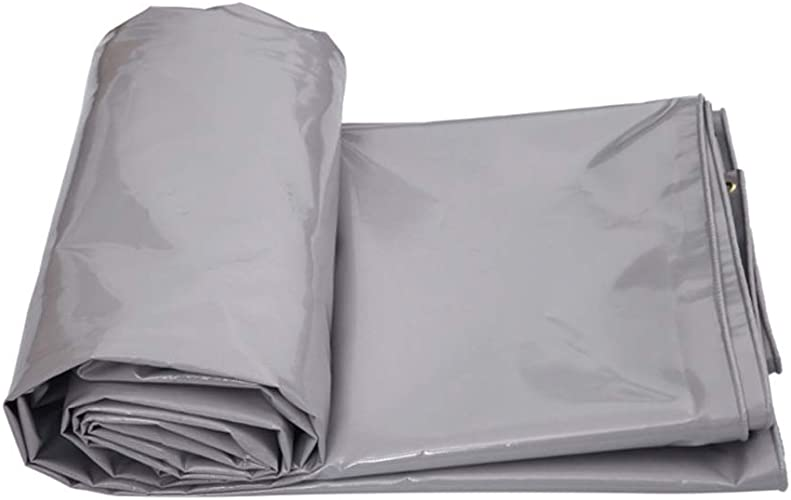 MSF Baches Toile imperméable Polyvalente pour abri de Tente de bache Polyvalente, bache en PVC grise, renforcée, résistante aux intempéries, 650g   m2 (Taille   4m×3m)