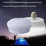 raspbery Baby Nursery Kinder Wiederaufladbare Nacht Mini-Nachtlicht bewegliche LED USB Wireless Charging-Lampe -