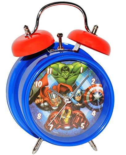 alles-meine.de GmbH Kinderwecker -  The Avengers  - für Kinder - großer Wecker - Metall / Kunststoff - für Jungen - Analog - Quarzwecker - Alarm - Tischuhr & Standuhr / Lernwec..