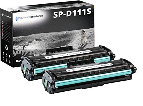 2 Schneider Printware Toner   200 Prozent höhere Druckleistung   kompatibel zu Samsung MLT-D111S D111L für Samsung Xpress M2020 M2022 M2022W M2026 M2026W M2070 M2070F M2070FW M2070W
