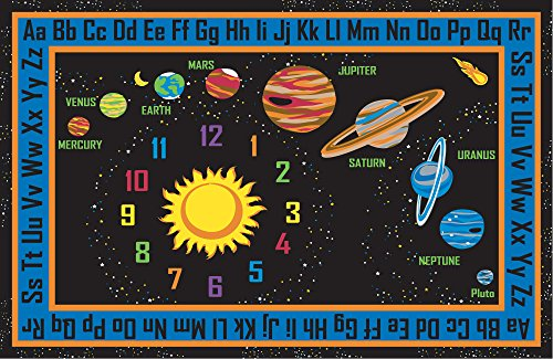 "Kid Carpet FE736-34A Outer Space Nylon Area Rug, 6' x 8'6"", Multicolored"