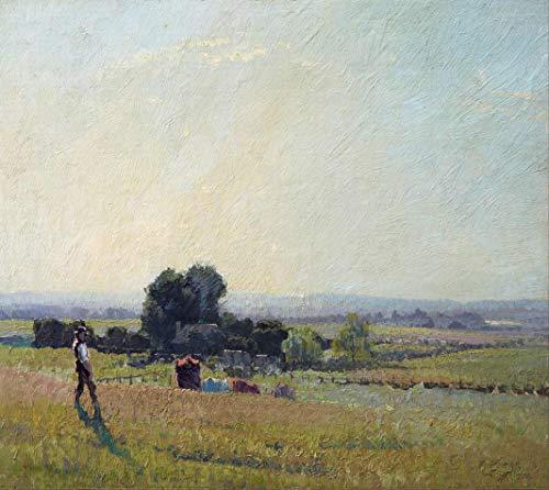 Luz da Manhã (1916) de Elioth Gruner - 50x56 - Tela Canvas Para Quadro