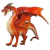 Design Toscano The Red Welsh Dragon Statue, Large, Full Color