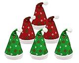 Pack 6 Gorro Papá Noel de Navidad de Santa Claus de Terciopelo de Felpe Suave...